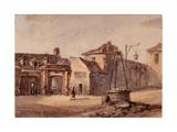 Vue des restes de l'église Saint Martin, place de la collégiale, faubourg Saint Marcel, Paris Giclee Print by Auguste-Sébastien Bénard
