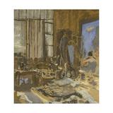 Maquette pour le portrait de Ker Xavier Roussel Giclee Print by Edouard Vuillard