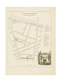 Plan de Paris par arrondissements en 1834 : IIème arrondissement Quartier Montmartre Giclee Print by Aristide-Michel Perrot