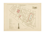 Plan de Paris par arrondissements en 1834 : IIème arrondissement Quartier du Palais-Royal Giclee Print by Aristide-Michel Perrot