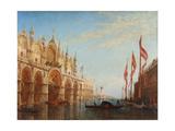 Venise, la place Saint-Marc, inondation Giclee Print by Félix Ziem