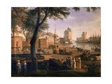 Vue du port de la Rochelle Giclée-Druck von Claude Joseph Vernet