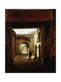 Cour d'une maison de roulage, rue Saint-Denis, dite cour Sainte-Catherine Giclee Print by Etienne Bouhot