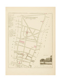 Plan de Paris, arrondissements en 1834: IIIème arrondissement Quartier du Faubourg Poissonnière Giclee Print by Aristide-Michel Perrot