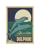 Live Like a Dolphin Lámina giclée por Anderson Design Group