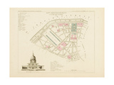 Plan de Paris par arrondissements en 1834 : Xème arrondissement Quartier des Invalides Giclee Print by Aristide-Michel Perrot