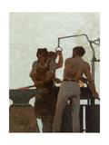 Métallurgie, Esquisse pour l'école de la rue Château-Landon Giclee Print by Jules Didier