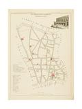 Plan de Paris par arrondissements en 1834 : IIème arrondissement Quartier de la Chaussée d'Antin Giclee Print by Aristide-Michel Perrot