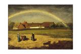 L'arc-en-ciel à Courrières Giclee Print by Jules Breton