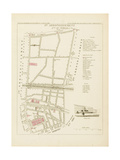 Plan de Paris par arrondissements en 1834 : VIème arrondissement Quartier du Temple Giclee Print by Aristide-Michel Perrot