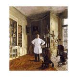 Le docteur Viau dans son cabinet Impression giclée par Edouard Vuillard