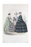 Le Moniteur de la mode (planche 395): mode de la maison Blé Horain Giclee Print by Jules David