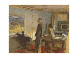 Maquette pour le portrait de Bonnard Giclée-Druck von Edouard Vuillard