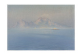 Capri, côte escarpée vue de la mer Giclee Print by Henry Brokman