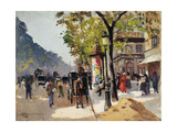 Le boulevard des Italiens Giclee Print by Emile Cagniart