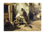 Le remouleur Lámina giclée por Alexandre Gabriel Decamps