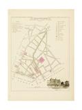 Plan de Paris par arrondissements en 1834 : Vème arrondissement Quartier de la Porte Saint-Martin Giclee Print by Aristide-Michel Perrot
