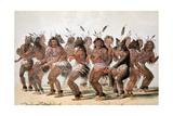 La danse de l'ours chez les Indiens d'Amérique du Nord Giclee Print by Mc Gahey d'après G. Catlin