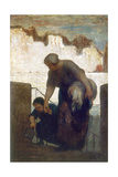La Blanchisseuse Giclee Print by Honoré Daumier