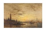 Venise, La Giudecca au crépuscule Giclee Print by Félix Ziem