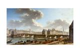 Le Pont Neuf et la Cité, vus du quai de Conti, 1772 Giclee Print by Nicolas Jean Baptiste Raguenet