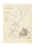 Plan de Paris par arrondissements en 1834 : Vème arrondissement Quartier du Faubourg Saint-Denis Giclee Print by Aristide-Michel Perrot