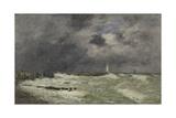 Coup de vent à Frascati, Le Havre Stampa giclée di Eugène Boudin