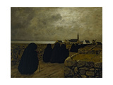 Messe basse en hiver, Bretagne, 1902 Giclee Print by Charles Cottet