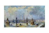 Paris, La place de la Concorde Giclee Print by Albert Lebourg