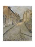 La rue Cortot à Montmartre, vue de la rue des Saules Giclee Print by Edouard Zawiski