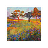 Colors of Brenham (center) Giclee Print by Erin Hanson