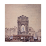 La fontaine des Innocents. Paris (Ier arr.) Giclee Print by  Benard
