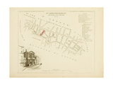 Plan de Paris par arrondissements en 1834 : IVème arrondissement Quartier Saint-Honoré Giclee Print by Aristide-Michel Perrot