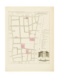 Plan de Paris par arrondissements en 1834 : VIIème arrondissement Quartier du Mont de Piété Giclee Print by Aristide-Michel Perrot