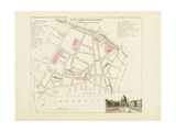 Plan de Paris par arrondissements en 1834 : Xème arrondissement Quartier de la monnaie Giclee Print by Aristide-Michel Perrot