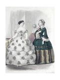 Le Moniteur de la mode (planche 385): sans titre (toilettes de dames) Giclee Print by Jules David