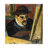 Utrillo devant son chevalet Giclee Print by Suzanne Valadon