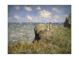 Promenade sur la falaise à Pourville Giclee Print by Claude Monet