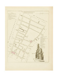 Plan de Paris par arrondissements en 1834 : VIIème arrondissement Quartier Sainte-Avoye Giclee Print by Aristide-Michel Perrot