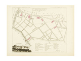 Plan de Paris par arrondissements en 1834 : VIIIème arrondissment Quartier des Quinze-Vingts Giclee Print by Aristide-Michel Perrot