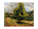 Le Grand arbre Giclee Print by Suzanne Valadon