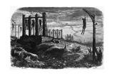 Gibet de Montfaucon - Notre-Dame de Paris, édition Perrotin, 1844, page 482 Giclee Print by Charles Daubigny