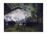 La gare St Lazare Giclee Print by Claude Monet