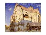 Eglise de Moret, temps de gelée Giclee Print by Alfred Sisley