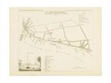 Plan de Paris, arrondissements en 1834: VIIIème arrondissement Quartier du Faubourg Saint-Antoine Giclee Print by Aristide-Michel Perrot