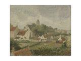Le village de Knocke en Belgique Giclee Print by Camille Pissarro
