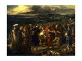 Comédiens ou bouffons arabes (1848) Giclee Print by Eugène Delacroix