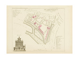 Plan de Paris par arrondissements en 1834 : IXème arrondissement Quartier de l'Arsenal Giclee Print by Aristide-Michel Perrot