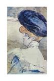 Elégante au chapeau Giclee Print by Henry Somm