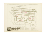Plan de Paris par arrondissements en 1834 : Xème arrondissement Quartier du Faubourg Saint-Germain Giclee Print by Aristide-Michel Perrot